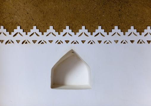 Wall decoration in Musmak fort, Riyadh Province, Riyadh, Saudi Arabia