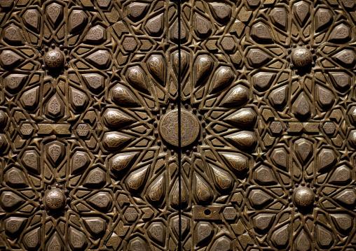 Metalic door in National museum, Riyadh Province, Riyadh, Saudi Arabia