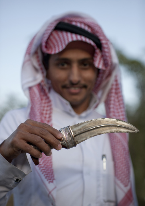Portrait of a saudi man with a Jambyia, Fifa Mountains, Al-Sarawat, Saudi Arabia