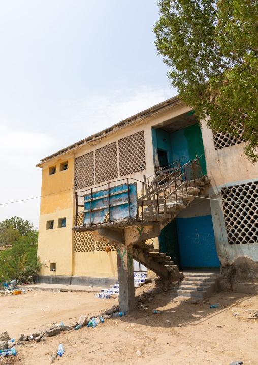 Apartments building in the former soviet area, Sahil region, Berbera, Somaliland