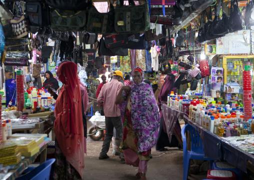 Customers at  market, Hargeisa, Somaliland