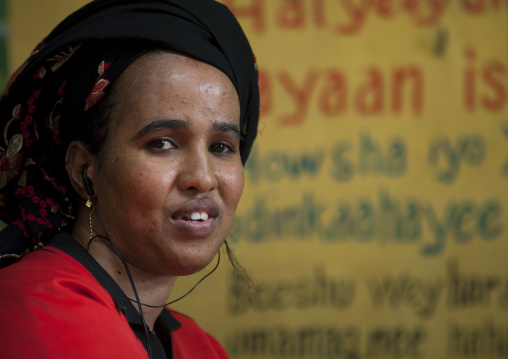 Portrait of a woman in hargeisa market, Somaliland