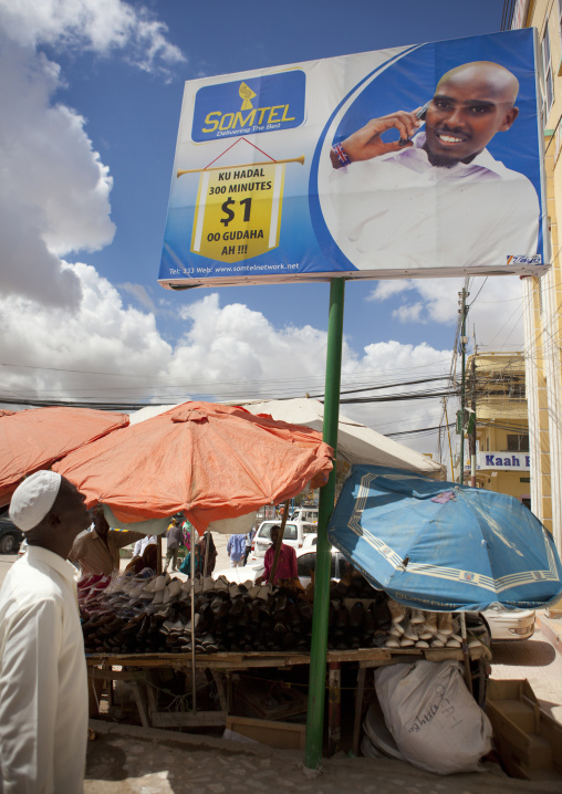 An advertisment bilboard for the telecom company somtel, Hargeisa, Somaliland