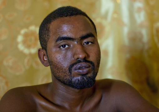 Portrait of a man after having khat, Hargeisa, Somaliland
