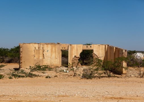 House in ruins after the civil war, Woqooyi galbeed region, Hargeisa, Somaliland