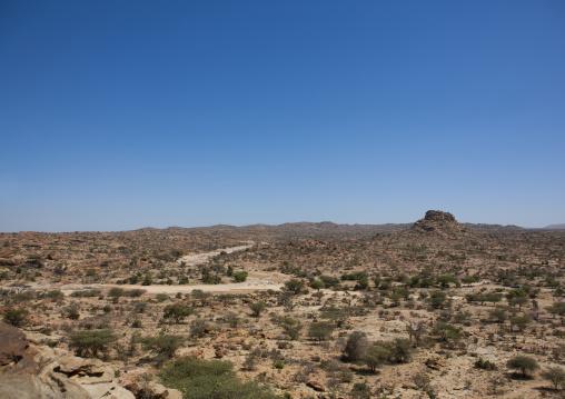 Landscape of the las geel area, Somaliland