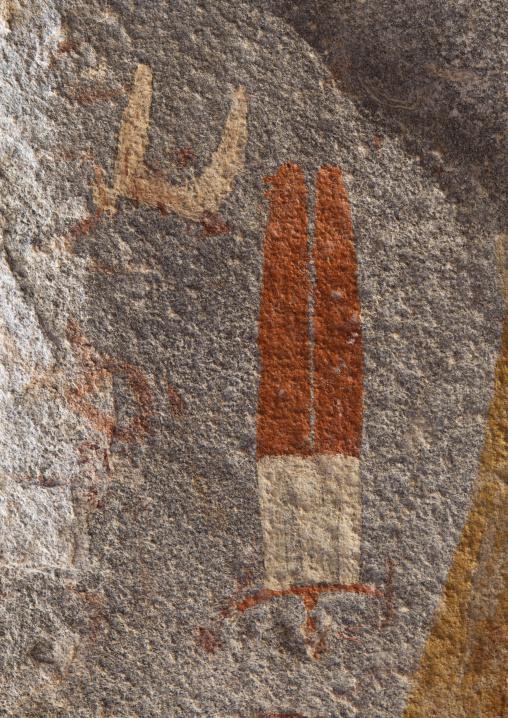 Paintings depicting human beings, Laas geel rock art caves, Hargeisa, Somaliland