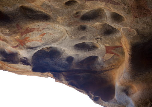 Laas geel rock art caves, Paintings depicting cows at the entrance, Hargeisa, Somaliland