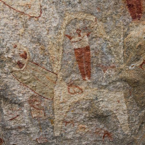 Laas geel rock art caves, Paintings depicting human beings, Hargeisa, Somaliland