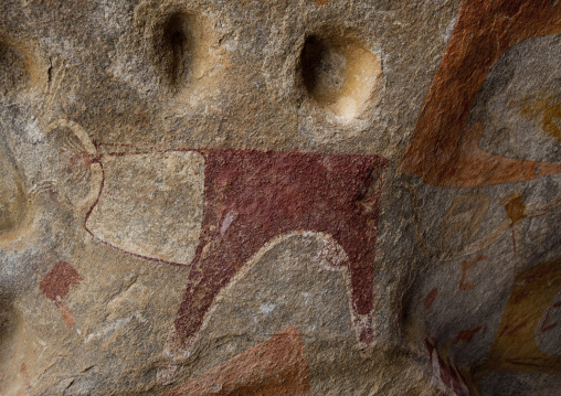Laas geel rock art caves, Paintings depicting cows, Haegeisa, Somaliland