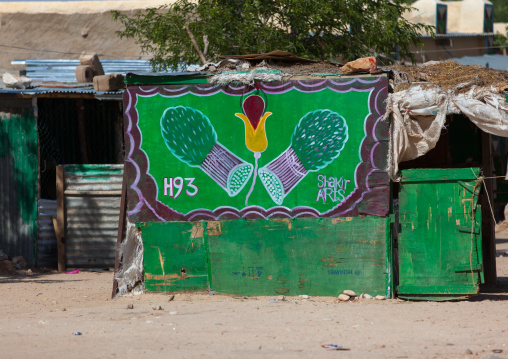 A khat advertisement painted sign, Woqooyi galbeed region, Hargeisa, Somaliland