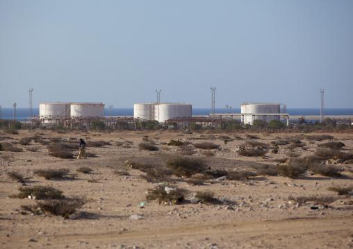 Tanks on the port of berbera and the sea, Berbera, Somaliland