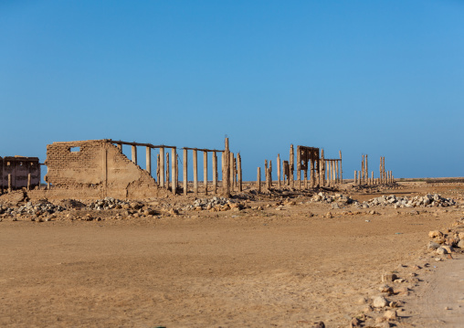 Ruins of a building destroyed during civil war, North-western province, Berbera, Somaliland