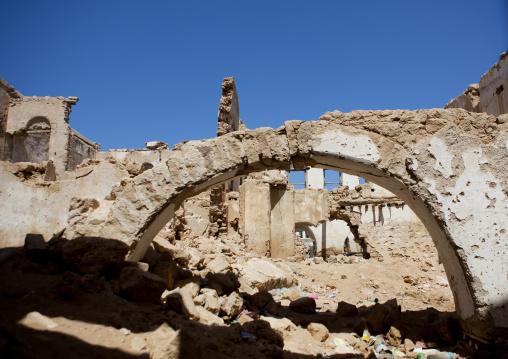 Former ottoman empire house in ruins, Berbera, Somaliland