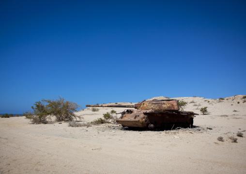 An Abandoned Sovietic Tank In The Desert, Berbera, Somaliland