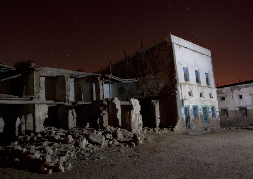Former Ottoman Empire House By Night, Berbera, Somaliland