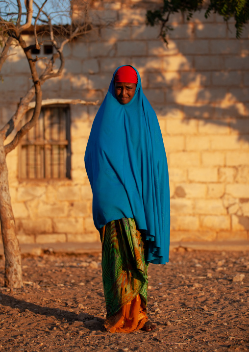 Portrait of a cute veiled somali teenage girl, Woqooyi galbeed province, Baligubadle, Somaliland