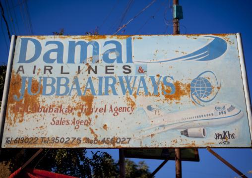 An Advertisement Bilboard For Jubba Airways, Boorama, Somaliland