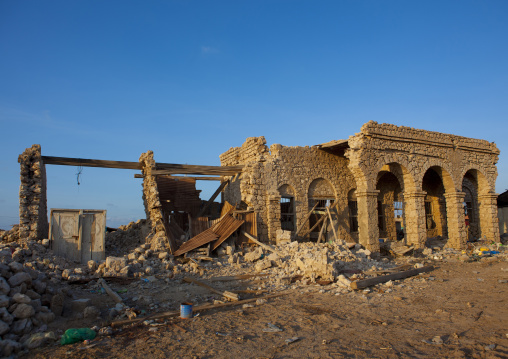 Ruins from buildings destroyed during the civil war, Zeila, Somaliland