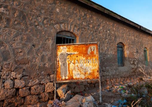 Old rusty billboard of the police, Awdal region, Zeila, Somaliland