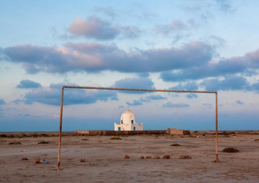 Old muslim grave near a football pitch, Awdal region, Zeila, Somaliland