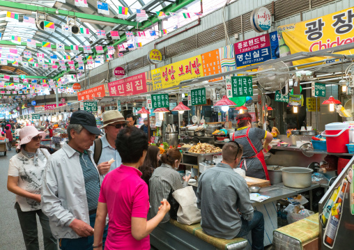 Restaurant in gwangjang traditional market, National capital area, Seoul, South korea