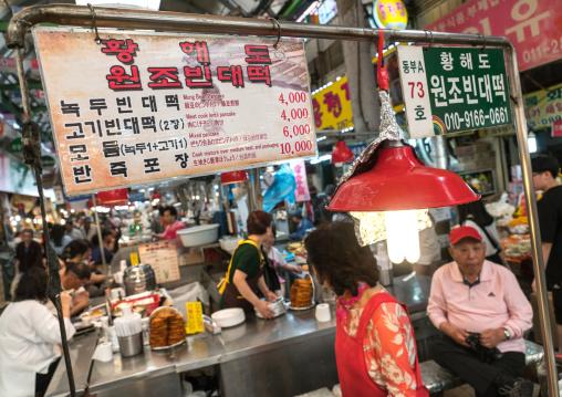 Gwangjang traditional market, National capital area, Seoul, South korea
