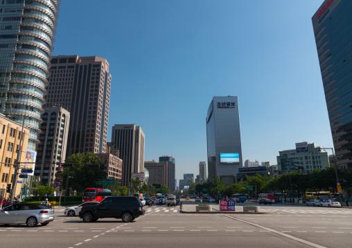 View of the city center, National capital area, Seoul, South korea