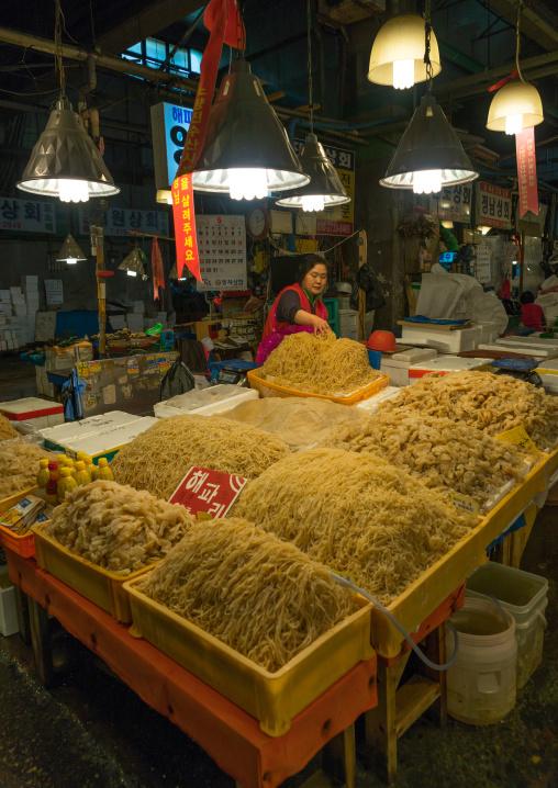 Seaweeds in noryangjin fisheries wholesale market, National capital area, Seoul, South korea