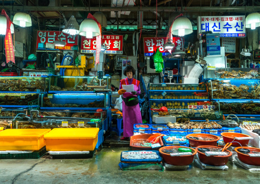 Noryangjin fisheries wholesale market, National capital area, Seoul, South korea