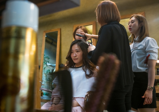 South korean woman in a beauty saloon, National capital area, Seoul, South korea