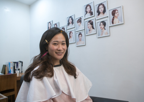 South korean woman called juyeon in a beauty saloon, National capital area, Seoul, South korea