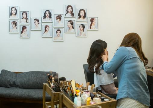South korean woman called juyeon in a beauty saloon, National capital area, Seoul, South korea
