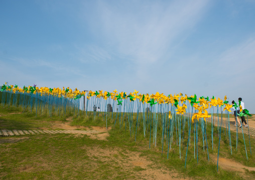 Windmills in imjingak park, Sudogwon, Paju, South korea