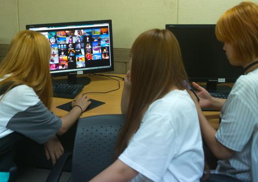North korean teens defectors in yeomyung alternative school, National capital area, Seoul, South korea