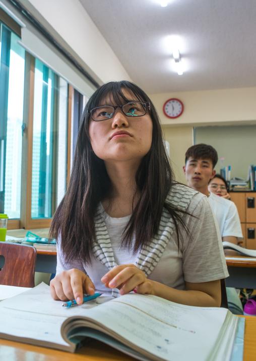 North korean teen defector in yeo-mung alternative school, National capital area, Seoul, South korea