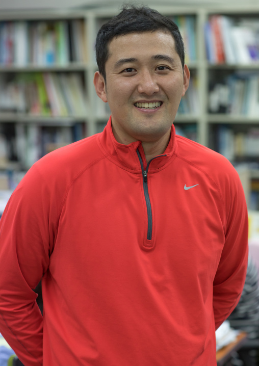 Portrait of a physical education teacher at Yeomyung school, National Capital Area, Seoul, South Korea