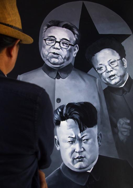 North Korean artist sun mu who was trained to paint propaganda now living in south Korea, National Capital Area, Seoul, South Korea