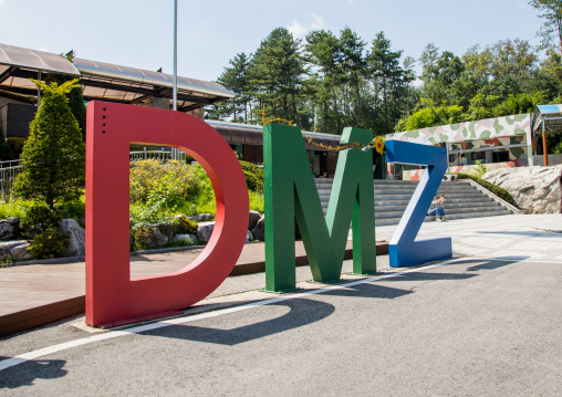 Giant DMZ sign in the third infiltration tunnel, North Hwanghae Province, Panmunjom, South Korea