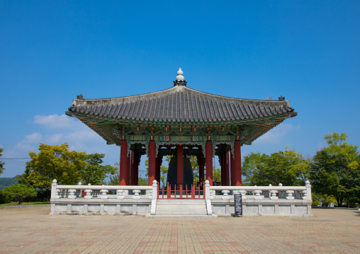 Peace bell temple at the DMZ, North Hwanghae Province, Panmunjom, South Korea