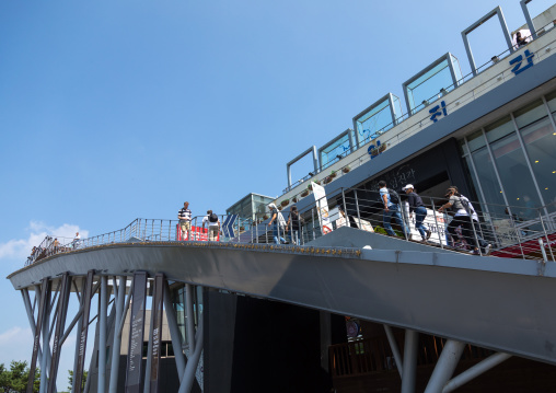 Observation platform in unification park, North Hwanghae Province, Panmunjom, South Korea