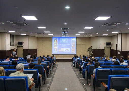 Conference room in the DMZ, North Hwanghae Province, Panmunjom, South Korea