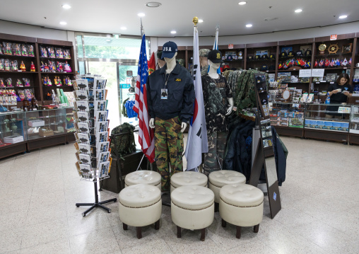 Souvenirs sold at the DMZ on the north and south Korea border, North Hwanghae Province, Panmunjom, South Korea