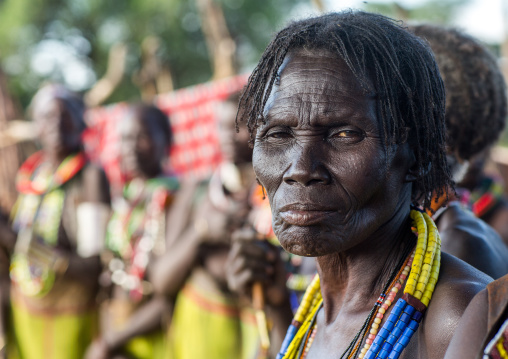 Toposa tribe woman with scarifications on the face, Namorunyang State, Kapoeta, South Sudan