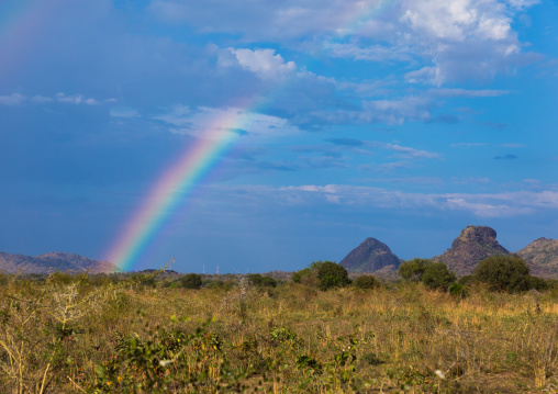 Rainbow over the countryside, Namorunyang State, Kapoeta, South Sudan