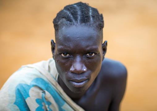 Larim tribe man portrait, Boya Mountains, Imatong, South Sudan