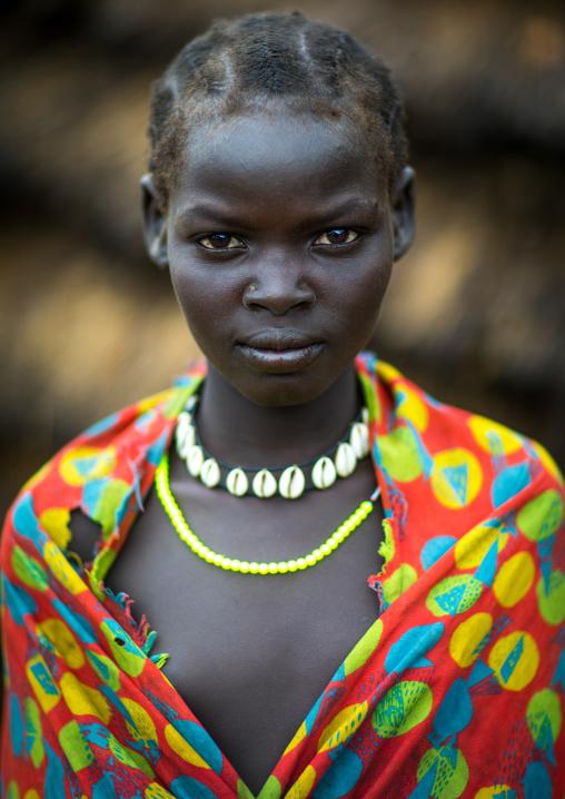 Portrait of a Larim tribe teenage girl, Boya Mountains, Imatong, South Sudan