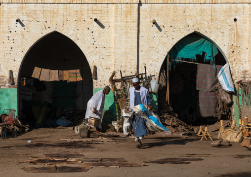 Leather market with its arcades, Kassala State, Kassala, Sudan