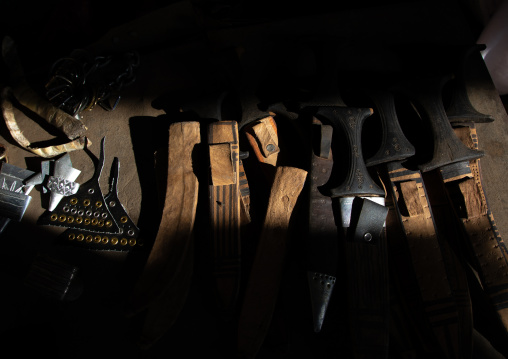 Traditional knives for sale in the market, Kassala State, Kassala, Sudan