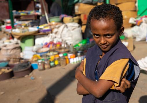 Portrait of an ethiopan boy in the market, Kassala State, Kassala, Sudan